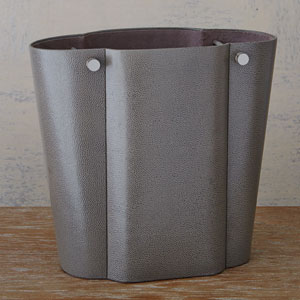 Studio A Serpentine Pebble Grey Wastebasket
