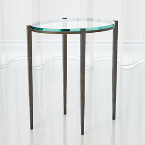 Studio A Petite Oval Natural Iron Accent Table