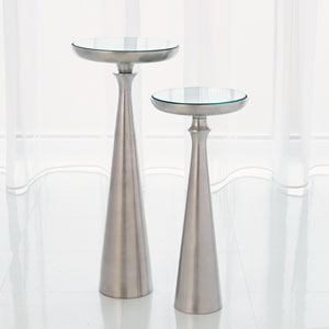 Studio A Large Minaret Satin Nickel Accent Table