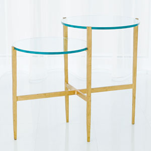 Studio A Dante Antique Gold Table