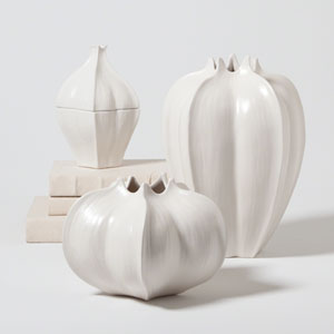 Studio A White Small Star Fruit Vase Only