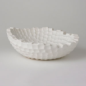 Studio A Random Grid Matte White Bowl