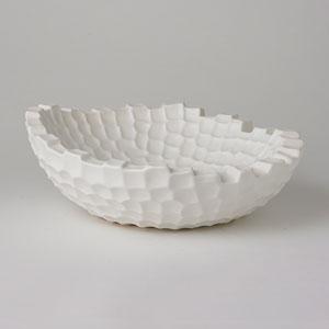 Studio A Random Grid Matte White Bowl