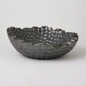 Studio A Random Grid Graphite Bowl