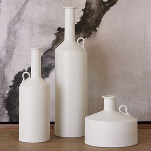 Studio A Metro Matte White Squat Bottle