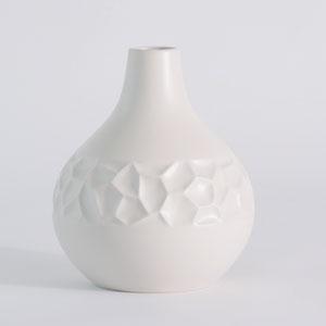 Studio A Honeycomb Matte White Medium Vase