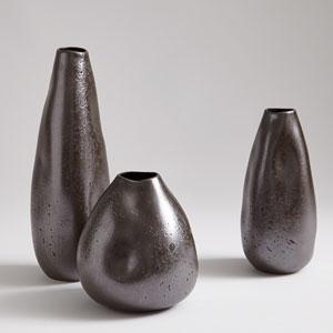 Studio A Smoosh Matte Graphite Small Vase