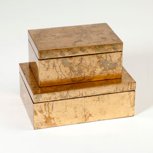 Studio A Luxe Gold Leaf Large Box