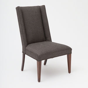 Studio A Straight Wing Alvaro Gray Side Chair