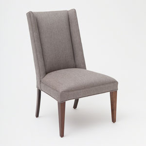 Studio A Straight Wing Margo Pewter Side Chair