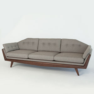 Studio A Greta Margo Pewter Sofa
