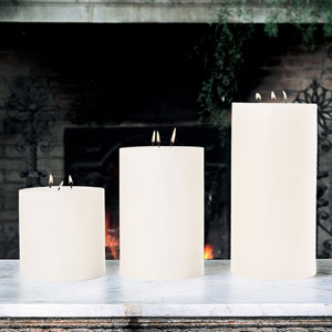 3-Wick Unscented Pillar Candle - 6 x 6