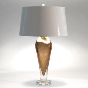 Studio A Golden Bubble Art Glass One-Light Lamp