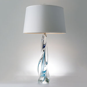 Studio A Ocean Twist Lamp with Silk Shade