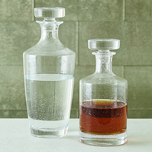 Studio A Seeded Tall Decanter