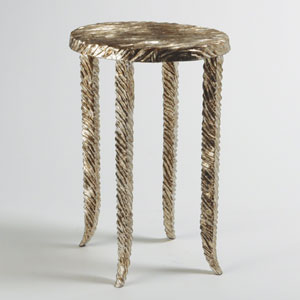 Studio A Silver Waves Martini Side Table
