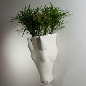 Studio A Equus Limestone Wall Vase