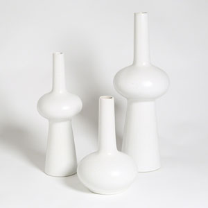 Studio A Matte White Medium Lunar Vase Only