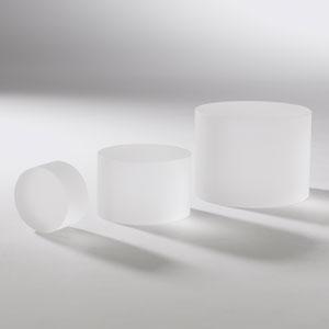 Studio A Frosted Crystal Medium Column Riser