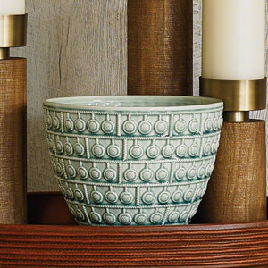Studio A Sienna Turquoise Crackle Bowl
