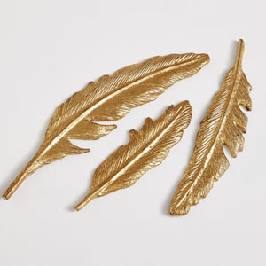 Studio A Small Feather Gold Leaf