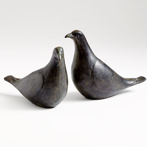 Studio A Oiled Bronze Dove Pair