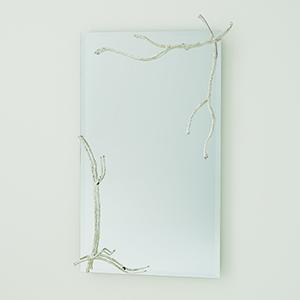 Studio A Large Silver Leaf Twig Mirror