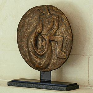 Studio A La Familia Antique Disc Sculpture