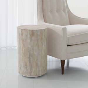 Studio A Driftwood Drum End Table