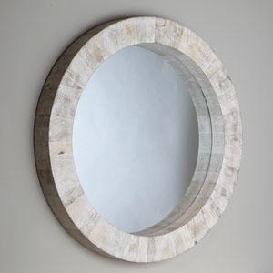 Studio A Driftwood Round Mirror