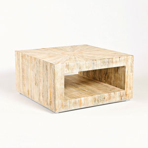 Studio A Square Driftwood Coffee Table