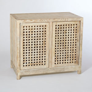 Studio A Driftwood Lattice Two-Door Cabinet