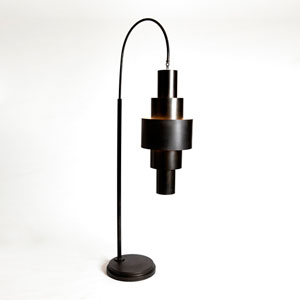 Studio A Babylon Bronze Two-Light Floor Lamp