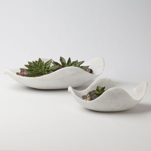 Studio A Marble Large Dove Bowl