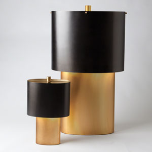 Studio A Nordic Gold Large One-Light Table Lamp
