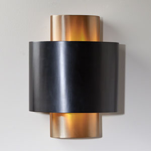 Nordic Gold Two-Light Hardwired Wall Sconce