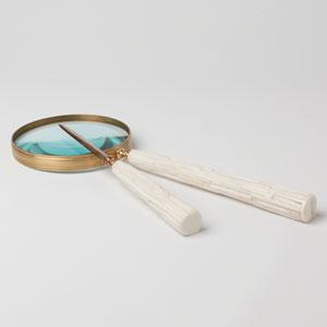 Studio A Chiseled Bone Magnifying Glass