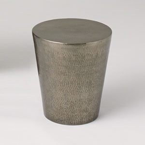 Studio A Izmir Hammered Antique Nickel Side Table