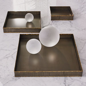 Studio A Laforge Braised Brass Large Tray
