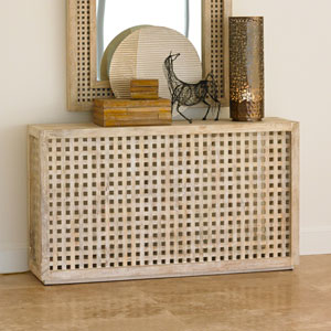 Studio A Driftwood Lattice Console