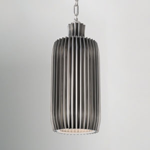 Studio A Crimp Bar Antique Nickel Two-Light Pendant