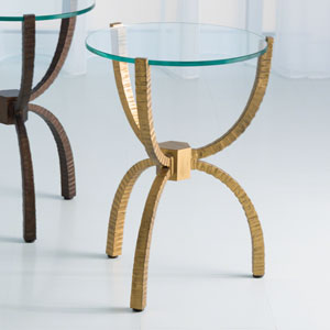 Studio A Teaton Gold Accent Table