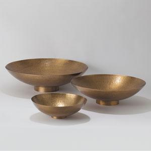 Studio A Antique Brass Small Indira Bowl