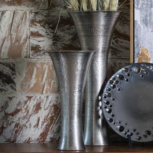 Studio A Antique Nickel Large Indira Vase