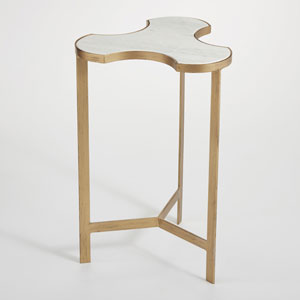 Studio A Link Bunching Gold Accent Table