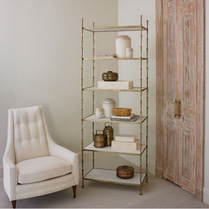 Studio A Spike Etagere with White Marble