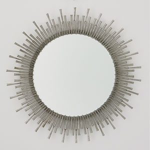 Studio A Spike Antique Nickel Mirror