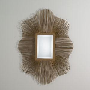 Studio A Venice Antique Gold and Brass Wire Mirror