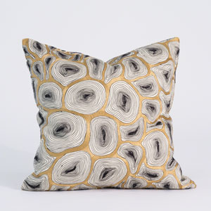 Studio A Agate Black and Gold Pillow