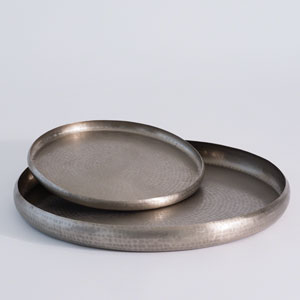 Studio A Antique Nickel Large Offering Tray